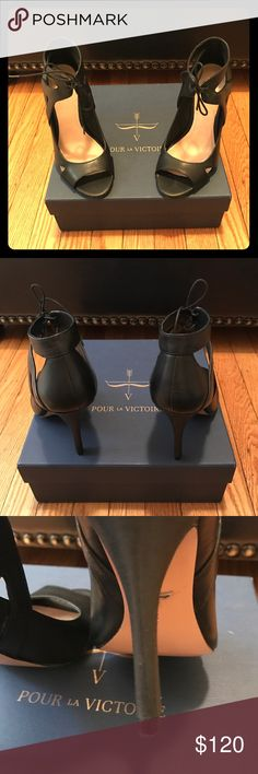Pour La Victoire heels Good condition. Shows wear.... Thanks for looking! Pour la Victoire Shoes Heels