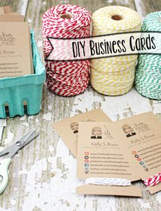 DIY Business Cards with a little crafty goodness. #diy #businesscards