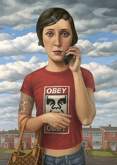 Alex Gross - pinturas pop surrealistas inspiradas no caos