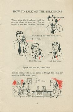 How to use a dial telephone Retronaut | Retronaut - See the past like you wouldnt believe. This would be cute framed next to the phone, except that no one has a phone table anymore. o.0