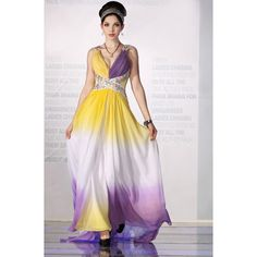 Dreamlike Colorful Beaded Long Prom Dress Designer form China