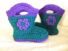 Baby Rain Boot booties  adorable available in by creationsbytiff, $20.00