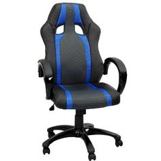 Swivel Desk Chair Executive Office Chair Black Ergonomic Padded Computer PC  Chairs Adjustable Height Armchair