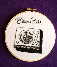 Bikini Kill Embroidery Wall Art