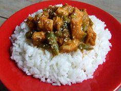 Curry z kurczaka z fasolką szparagową. Smakuje wyśmienicie!