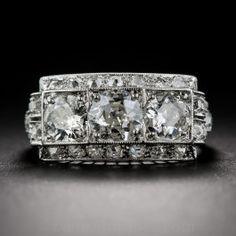 Art Deco Diamond Three-Stone Ring - Shop for Jewelry
