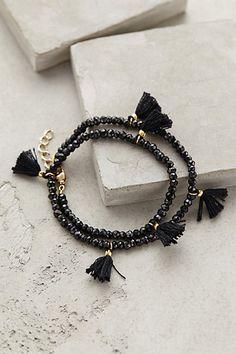 I want to make one!! Fluttered Tassel Wrap Bracelet #anthropologie