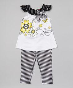 Toddler Set White Bows Rosebud-Leaf Satin Quicksnap
