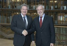 Meeting between Luxembourg's Deputy Prime Minister Jean Asselborn and EIB President Werner Hoyer