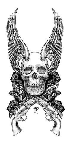 Skull - wings