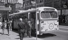 1949 Canadian Car Brill trolley bus is shown in downtown Vancouver, B., in July of Richmond Vancouver, Vancouver Bc Canada, Downtown Vancouver, Vancouver Island, Old Photos, Vintage Photos, Bus Stop, Most Beautiful Cities, Historical Pictures
