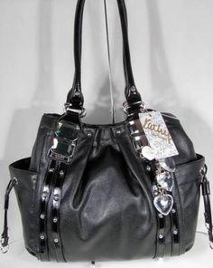 NWT Kathy Van Zeeland Handbag Purse Bag Glam Rock Shopper Black · Cute HandbagsBeautiful  HandbagsPurses And ... 6570bd6e3d582