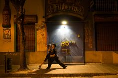 Tango in the streets of La Boca, Buenos Aires, Argentina