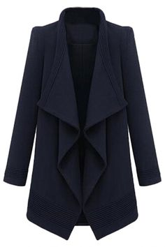 Drapery Open-Front #Wool Woman #Coat - OASAP.com