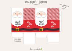 Caixa de Leite Natalina - Papai Noel