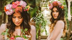 e2beauty, curls, engagement session, e-session, ombre curls, floral crown, natural makekup  www.e2beauty.com