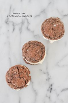 Brownie Snap Ice Cream Sandwiches