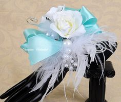 prom wrist corsage pictures | Prom Corsage - corsage, blue- bling corsage- dance corsage- wrist ...