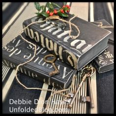 Gorgeous Books Painted With Chalk Paint® decorative paint by Annie Sloan | Debbie of the Unfolded Blog