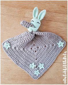 Crochet Security Blanket, Crochet Lovey, Crochet Rabbit, Crochet Afgans, Newborn Crochet, Crochet Toys, Knit Crochet, Learn To Crochet, Crochet Animal Patterns