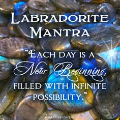 Each time you work with labradorite, remember that NOW is a new beginning. Every moment is a chance to start new! Join us online under the April New Moon in Aries for a free meditation ceremony.