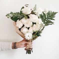 A mix of roses and certain green plants can make a gorgeous bouquet. What's your favourite natural surprise for your loved ones? My Flower, Fresh Flowers, White Flowers, Red Roses, Beautiful Flowers, White Roses, Cactus Flower, Exotic Flowers, Yellow Roses