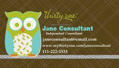 22 best cute owl business cards images on pinterest carte de front thirty one owl business card 1295 via etsy colourmoves