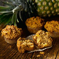 All-Bran® - Pineapple Bran Muffins Bran Muffins, Baking Muffins, Pineapple Muffins, Biscuits, Berry, All Bran, Cookie Cake Pie, Chicken Pasta Bake, Vegan Bread