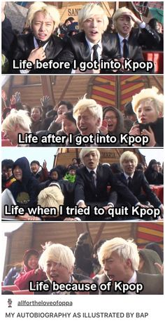 "Kpop is my life now<--- friend:"" how the hell are you into Nightwish and BAP/BTS?"""