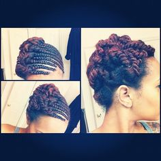 Flat twist and two strand twist up-do #naturalhair