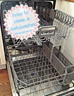 Did you realize that your dishwasher also needs to be cleaned? Check out these step by step instructions on how to clean a dishwasher. #springcleaning #dishwasher #cleaning