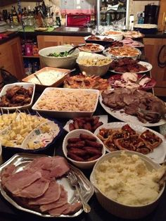 Every single meat and salad cooked and made from scratch...great party buffet...