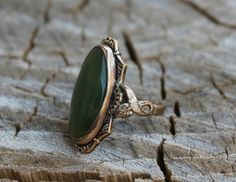 Vintage Victorian Gold Jade Ring by Gener8tionsCre8tions on Etsy, $75.00