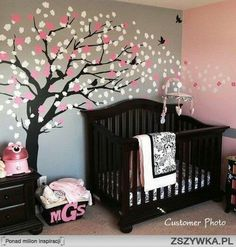 Love the tree on the wall.. look on alliexpress for great deals for decals