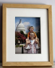 """3D"" layered photo in shadow box frame."