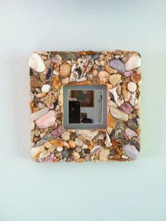Handmade Small Square Sea Shell Picture Frame with by patsytroxell, $25.00