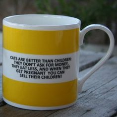 Cats are better than children Hoop Mug/Funny