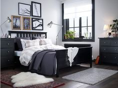 HEMNES Collection, Black & White bedroom from Ikea