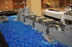 Amazing WW2 Troop ship by Cale Leiphart on Flickr.  Huge #lego #WW2 troop transport! Follow @bricktease on twitter for more Lego.