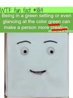 Green is NOT a creative color