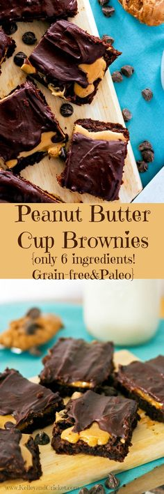 These Peanut Butter Cup Brownies are so fudgey, rich, and decadent thanks to a SECRET ingredient, and they are actually good for you- no guilt here! As always they are grain-free, gluten free and paleo (sub almond butter for peanut butter) and they only have 6 simple ingredients and NO FLOUR!
