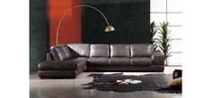 Divani Casa 260 Espresso Leather Sectional Sofa