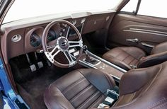 The execution is flawless, the emotion frantic, and the result sublime. Check out this 1967 Chevrolet Camaro that is a prime example of the Pro Touring trend. 1967 Camaro, Chevrolet Camaro, Custom Decks, Custom Cars, Camaro Interior, Car Themes, Theme Ideas, Custom Consoles, Custom Car Interior