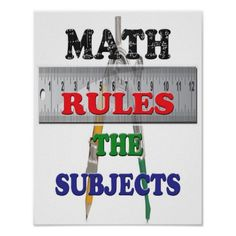 Math Rules the Subjects Poster In our offer link above you will seeHow to          Math Rules the Subjects Poster lowest price Fast Shipping and save your money Now!!...