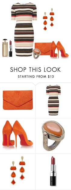 """""""Untitled #2899"""" by empathetic ❤ liked on Polyvore featuring Dorothy Perkins, Christian Louboutin, Marni, Anne Sisteron, Bobbi Brown Cosmetics and Prada"""