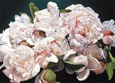 Peonies 220 X 160 Cm Painting by Thomas Darnell - Peonies 220 X 160 Cm Fine Art Prints and Posters for Sale