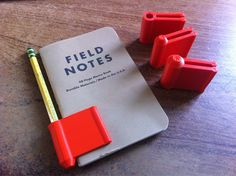 Clever home 3D printed pencil & notebook holder from Everything I Make With My MakerBot #3dprintingideas