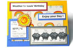 Weather forecast Birthday Card
