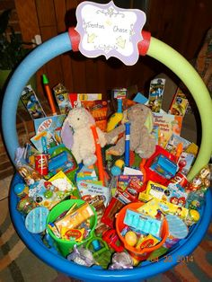 Giant easter basket small swimming pool with hola hoop with the giant easter basket small swimming pool with hola hoop with the childs gifts and favorite goodies pinterest small swimming pools easter baskets and negle Image collections