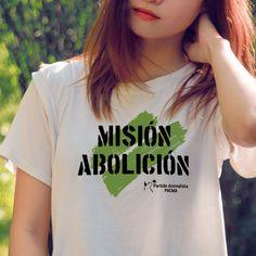 Camiseta blanca mujer MA 2017 – Partido Animalista – PACMA
